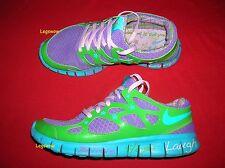 Nike Free Run 2 DB BG Doernbecher Sneakers Shoes Green Purple Womens 8 Youth 6.5