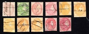 Venezuela 1871-78 group of stamps Mi# used/horizontal w.