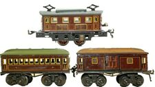 VINTAGE PRE-WAR BING BOX CAB CLOCKWORK LOCOMOTIVE PASSENGER TRAIN SET