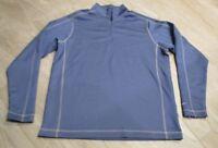 d9741602f141 NICE Nike Golf Therma Fit Blue Mesh 1 4 Quarter Zip Pullover Jacket Men s  Medium