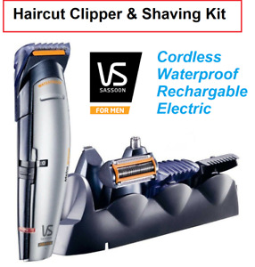 Cordless Haircut Clipper Body Shaver Beard Nose Ear Rechargeable Electric NEW