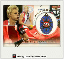 2003 Select AFL XL Card Series Medal Card MC5 Nick Riewoldt (Rising Star)