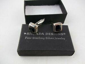 Silpada Designs Sterling Silver Onyx Cufflinks, Men's Jewelry