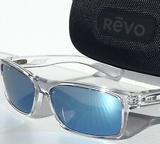 NEW* REVO CLEAR Square Classic w Blue POLARIZED Lens Sunglass RE 4061-05