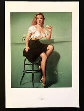 Book Plate Print GIL ELVGREN Cold Front Sexy Woman Ice Cream Come Mess Ooops