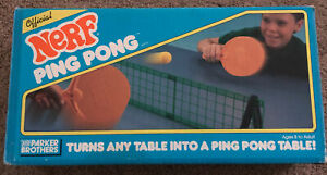 Vintage 1987 Parker Brothers NERF Ping Pong Set With Original Box