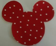 Mickey Mouse Iron On Applique Patch - Medium - RED