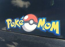 PokeMom, Pokemon Go Bumper Sticker. Pokemon Decal FREE FAST SHIPPING!