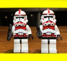 LEGO STAR WARS 2X CLONE TROOPER EP.3 RED MARKINGS SHOCK MINIFIGURE SET# 7655