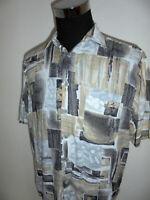 vintage 90`s Hemd crazy pattern shirt 90er Jahre festival viskose oldschool L