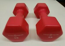 Fitness Republic Vinyl Dumbbell, pair, 9-pound (18 lbs total), new / unused