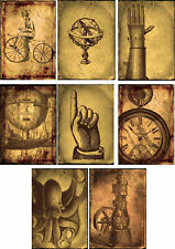 Vintage Steampunk Glossy Finish Card Making Topper - Crafts Embellishment