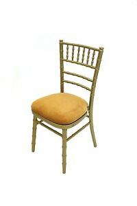 New Gold Chiavari Chairs with Gold Seat Pad, Gold wedding chairs