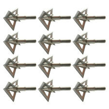 USA Stock 12Pcs Broadheads 100 Grain 4 Blade Crossbow Compound Bow Hunting Tips