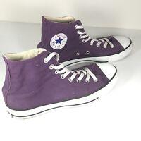 Converse mens shoes chuck Taylors All Star Purple Hi top Sneaker Shoes sz 7