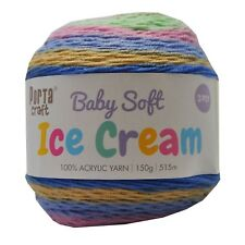 Baby Ice Cream Yarn 15g 515m 100% Acrylic 3 ply like Caron Cake Pixie Garden