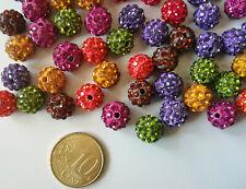 Perlas bola de arcilla 10 mm X 10 UNIDADES parejas colores pendientes abalorios