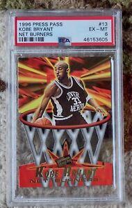 Kobe Bryant Die-Cut Rookie -- 1996 Press Pass NET BURNERS #13 -- PSA 6