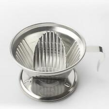 Silver Coffee Filter Cup Cone Drip Dripper Maker Brewer Holder Reusable
