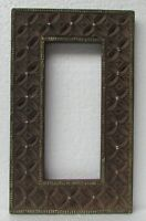 Vintage Wooden Old Handmade Brass Fitted Hand Carved  Picture Photo Frame