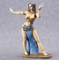 Dancer Female  Hand Painted Miniature Tin 54mm 1/32
