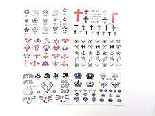 6 sheets fake tattoos Tiny Tattoo Nail Decals Mini Finger Wrist Sticker Small