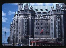 1950s red border Kodachrome photo slide Ottawa Canada Trolley car