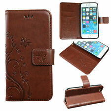 Phone Case For iPhone Samsung S5 S6 edge S7 PU Faux Leather Wallet Flip Flower