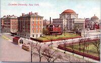1910 Columbia University Campus Trolley NYC Postcard