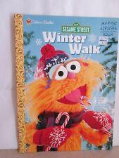 1998 Sesame Street Coloring Book Winter Walk Golden Books