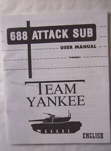 65836 Instruction Booklet - 688 Attack Sub / Team Yankee - Commodore Amiga ()