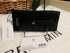 Brahmin Black Leather Melbourne Credit Card Wallet