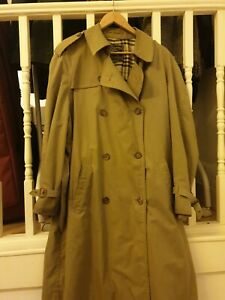 Vintage Burberry Mens Trench Coat
