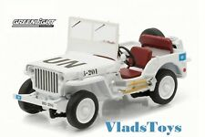 Greenlight 1/43 Scale Jeep Willys White  UN (United Nations) #86308