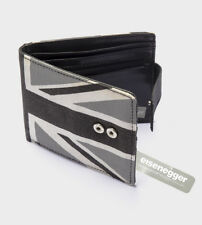 mens wallet bnwt grey union jack canvas/faux leather press stud close zip pocket