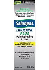 Salonpas Lidocaine Pain Relieving Cream 4% lidocaine 3oz