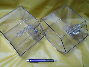 Set of 6 Jumbo Storage Bins with Silver (plastic) scoops.