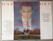 Cinema Poster: REGARDING HENRY 1991 (Main Quad) Harrison Ford Annette Bening