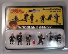 Woodland Scenics Figures - HO Scale Rescue Firefighters #1961 Model Trains - New