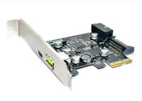 ITHOO PCI-e To USB3.1 Type-C Expansion Card PCIe To USB 2.4A Fast Charge + 19PIN