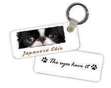 Japanese  Chin  The  Eyes Have It   Key  Chain