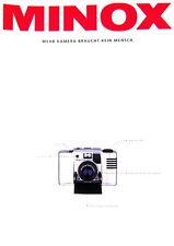 MINOX Mehr Kamera braucht kein Mensch LX EC 35 GTE Prospekt brochure - (0449)