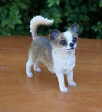 Leonardo Resin Dog Figures Long Haired Chihuahua Bnib