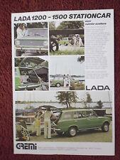 LADA 1200 & 1500 ESTATE STATIONCAR c1976 Dutch Mkt Sales Leaflet Brochure Folder