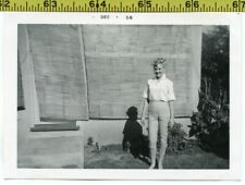 Vintage 1958 photo / Sexy Blonde Bombshell in Capri Pants with Bamboo Sun Shades
