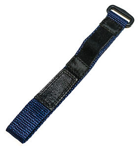 Speidel 12-16mm Blue & Black Nylon Hook & Loop Performance watch strap