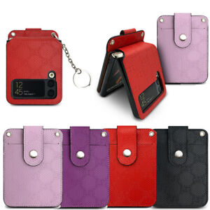 Pattern Leather Wallet Case for Samsung Galaxy Z Flip / Z Flip 5G / Z Flip3