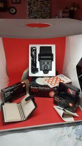 VIVITAR 283 Electronic Thyristor,  flashgun, Variable angle lens +Filter Adapter