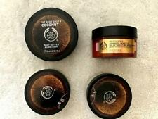 THE BODY SHOP Assorted Moisturisers and Scrubs x 4 - BRAND NEW