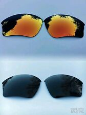 POLARISED BLACK & FIRE RED MIRRORED REPLACEMENT OAKLEY HALF JACKET XLJ LENSES